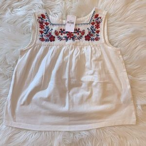 NWT Gap Kids Embroidered Tank